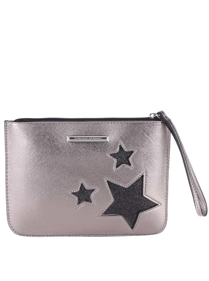 Metalická listová kabelka v bronzovej farbe s hviezdami Dorothy Perkins