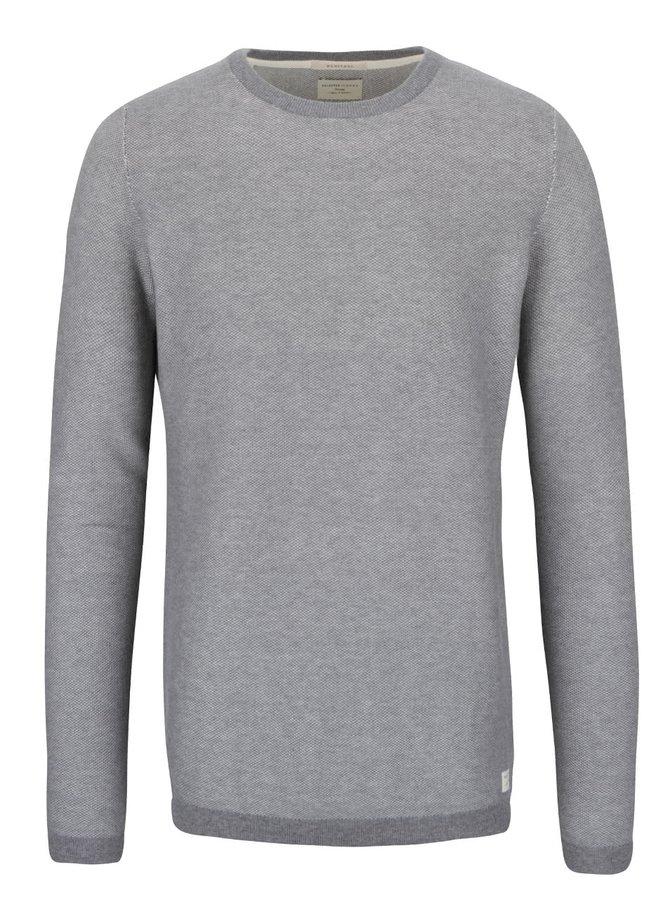 Svetlosivý sveter Selected Homme Compton