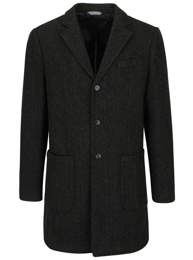 Tmavě zelený vlněný kabát Selected Homme Onetrade