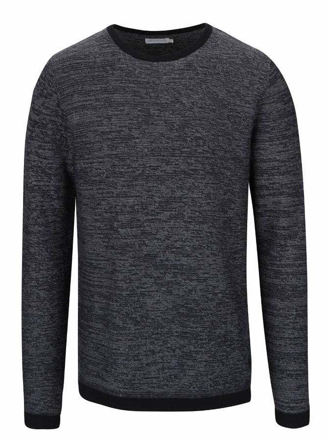 Šedo-černý žíhaný lehký svetr Jack & Jones
