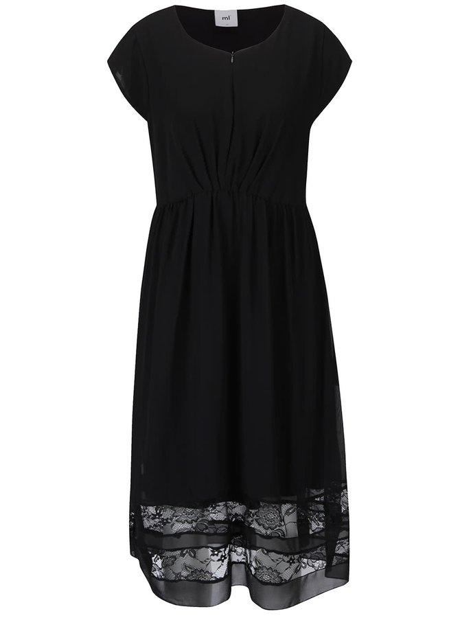 Černé těhotenské/kojicí šaty s krajkou Mama.licious Alexandra