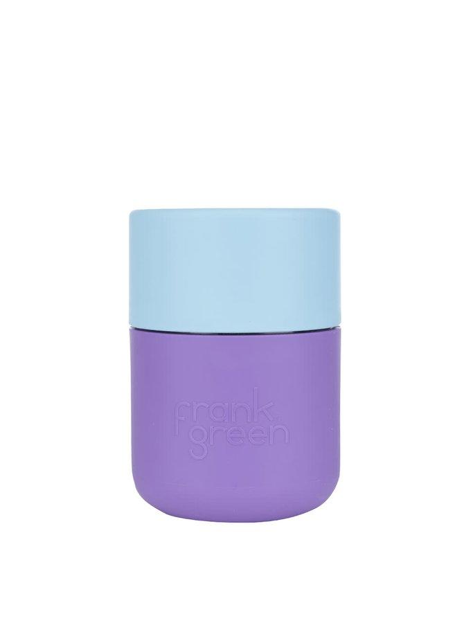 Fialový SmartCup s modrým vrchnákom Frank Green 230 ml