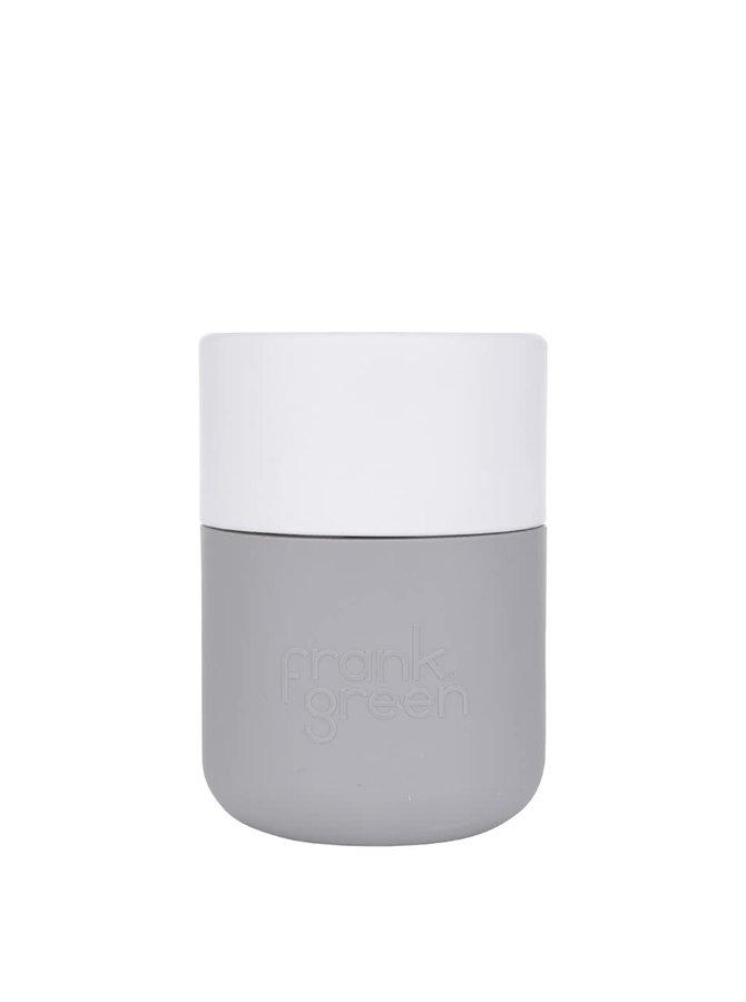 Šedý SmartCup s bílým víčkem Frank Green 230 ml