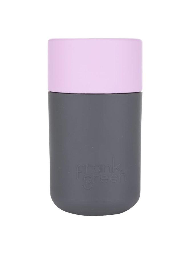 Termos gri închis cu roz SmartCup Frank Green 340 ml