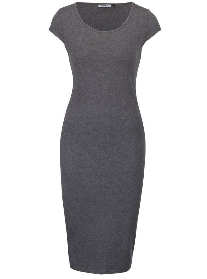 Tmavě šedé šaty ONLY Mallika