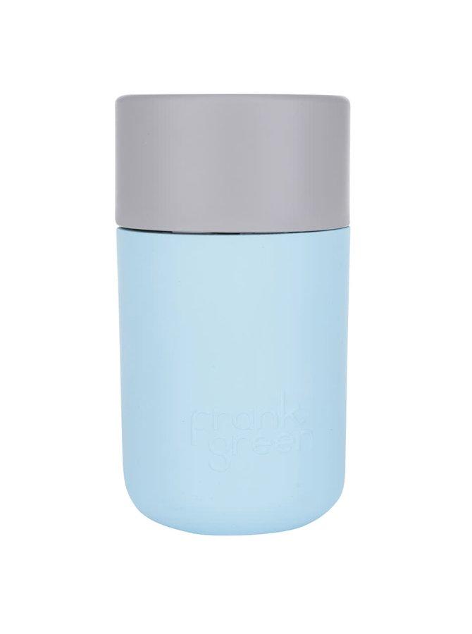 Termos albastru deschis cu gri SmartCup Frank Green 340 ml