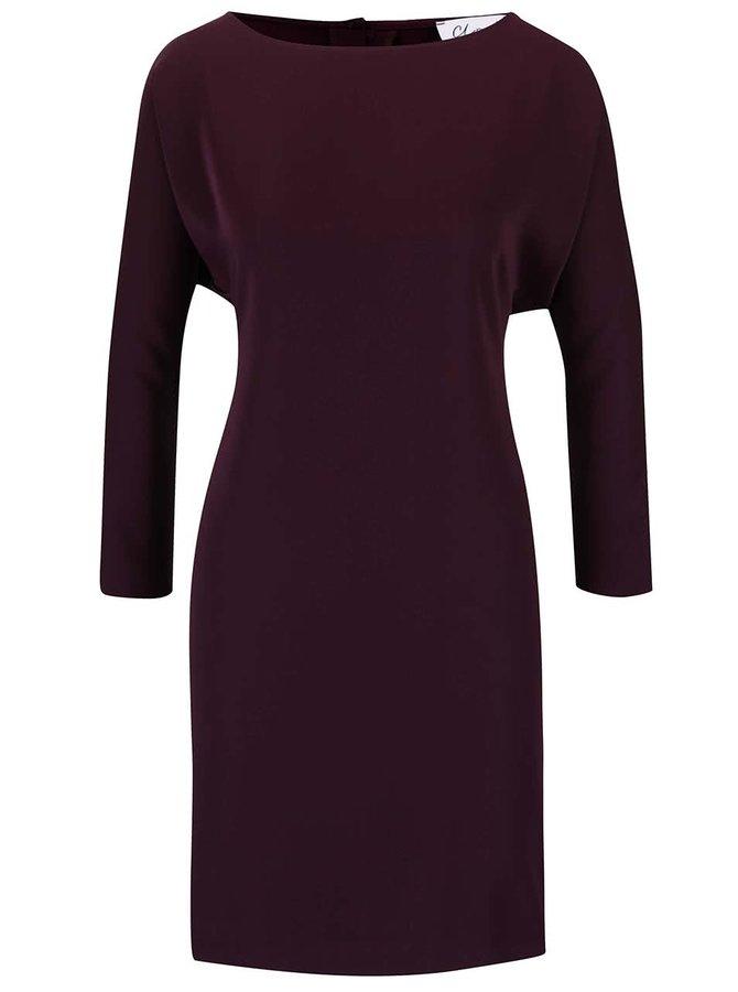 Fialové šaty s průstřihy na ramenou Closet