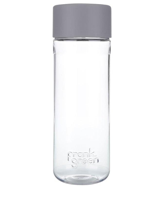 Láhev na vodu SmartBottle se světle šedým víčkem Frank Green 740 ml