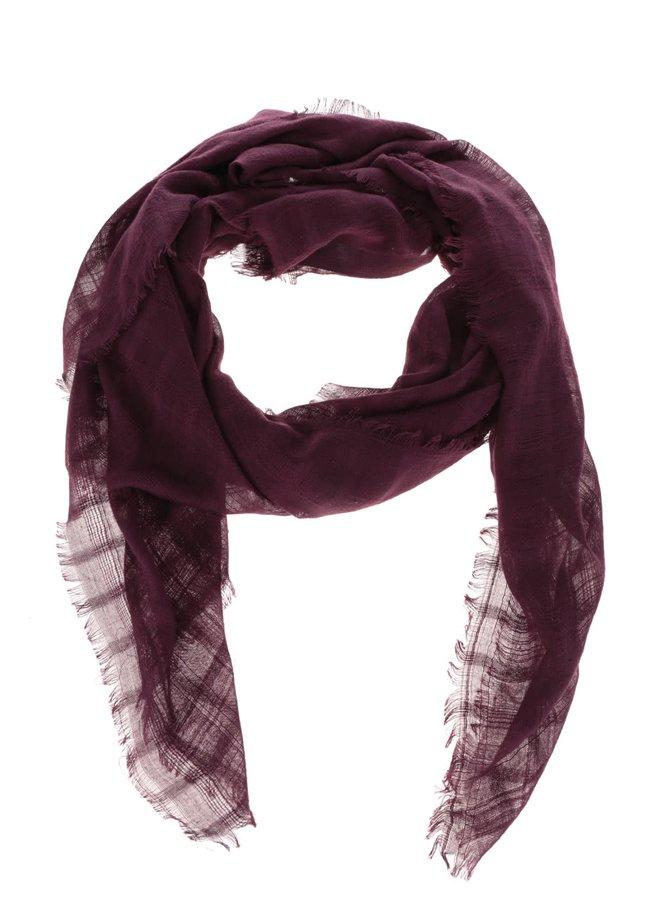 Vínový průsvitný šátek Dorothy Perkins