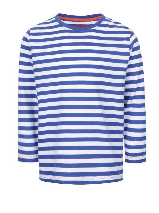 Modro-biele chlapčenské pruhované tričko s dlhým rukávom 5.10.15.