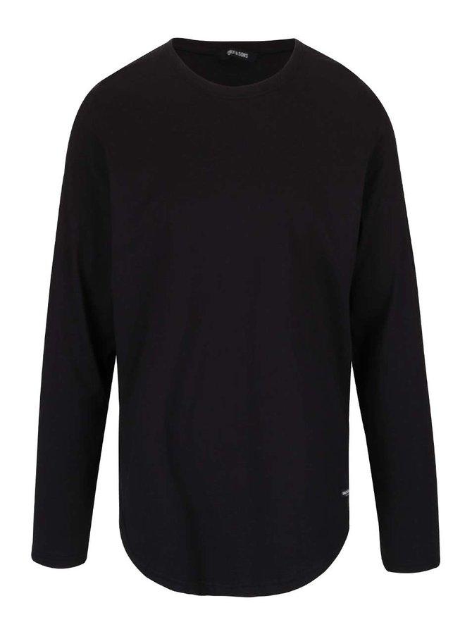 Černé triko s dlouhým rukávem ONLY & SONS Matt