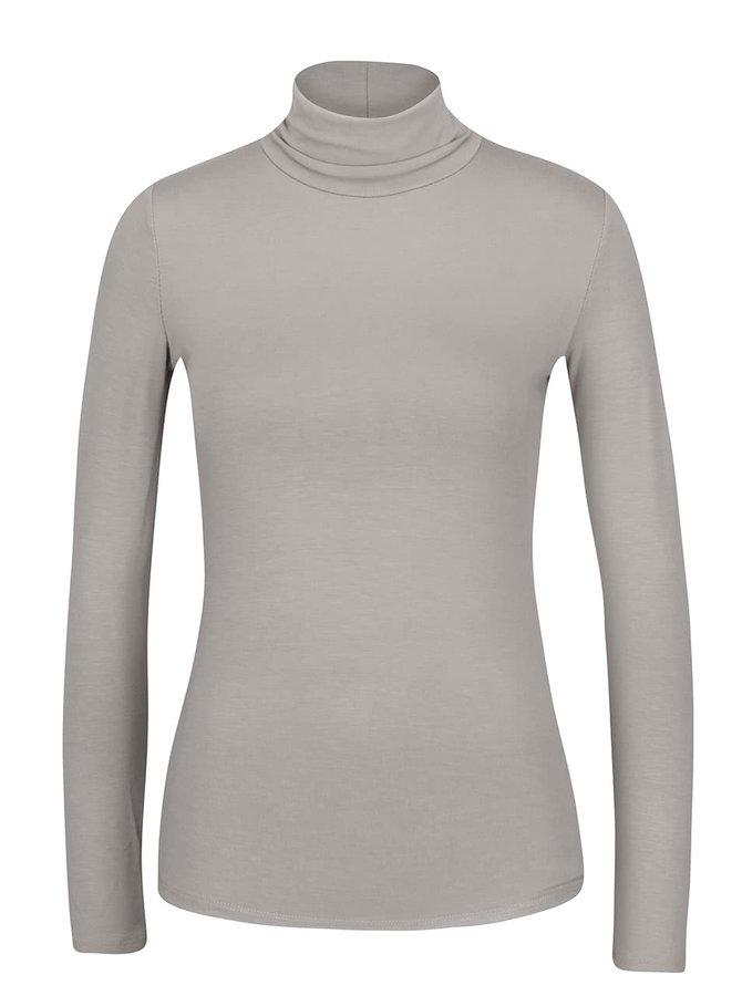 Světle šedé tričko s rolákem a dlouhým rukávem ZOOT