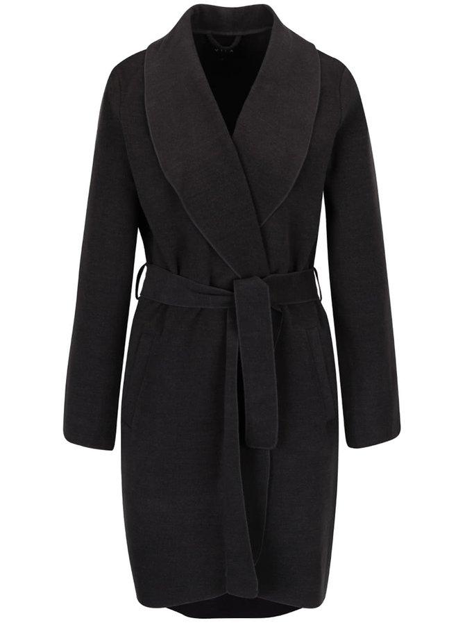 Tmavě šedý kabát VILA Ida