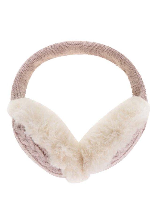 Căști protectoare pentru iarnă roz pal Something Special