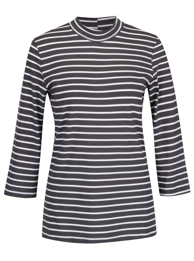 Tmavě šedé pruhované tričko s 3/4 VERO MODA Sailor