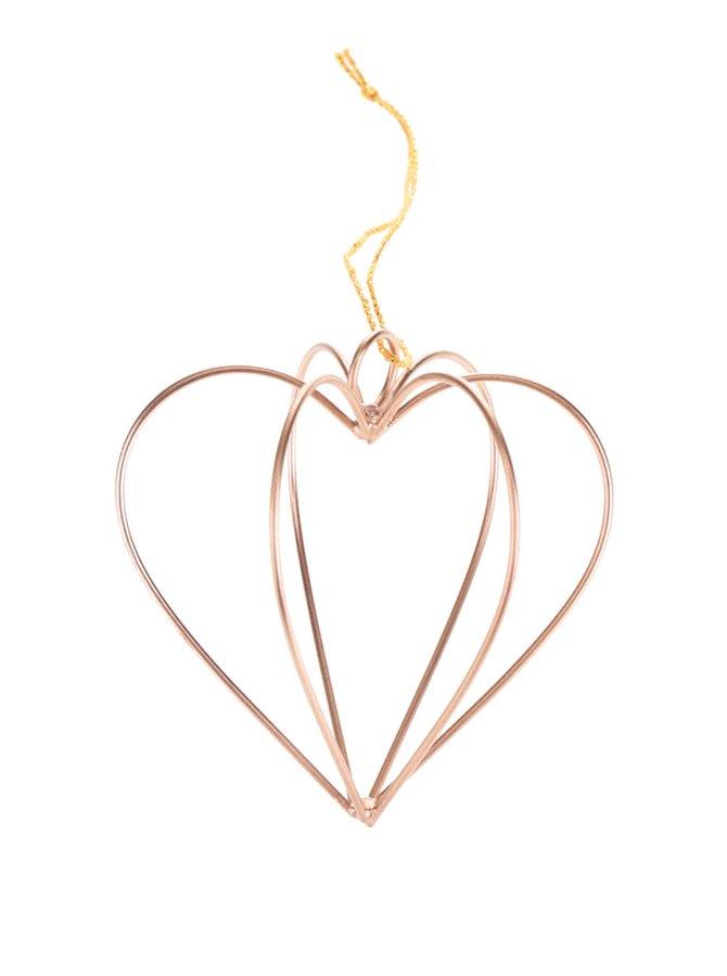 Decorațiune de culoarea cuprului în formă de inimă Sass & Belle