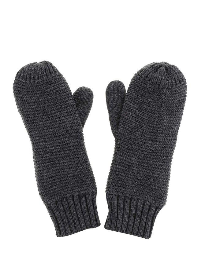 Tmavě šedé rukavice Pieces Billi