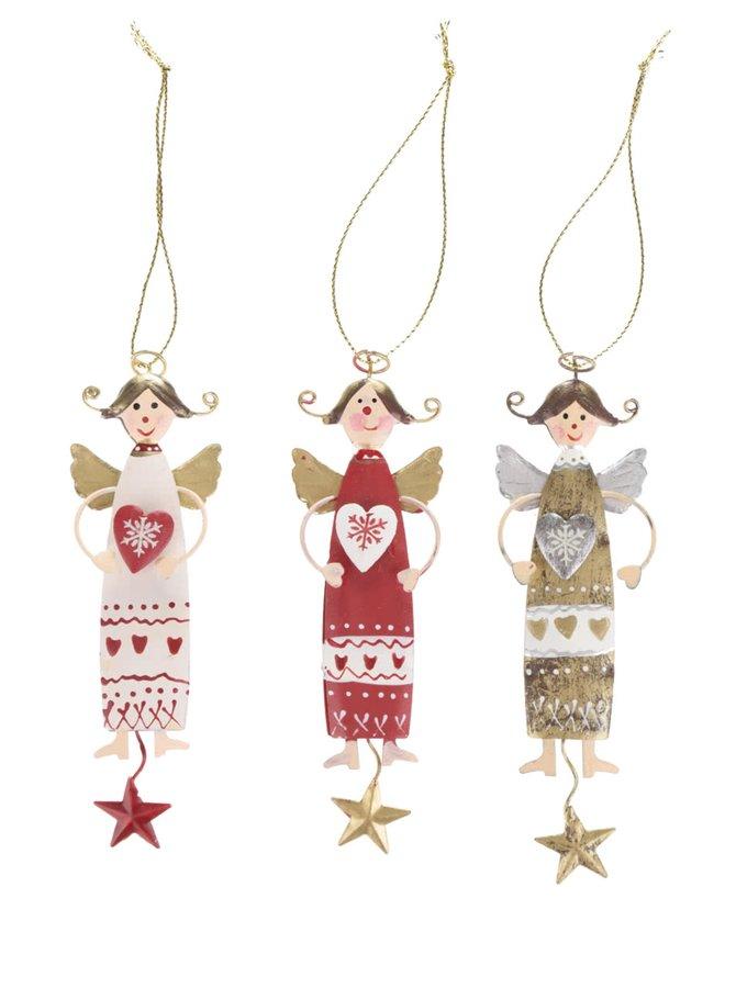 Sada tří vánočních ozdob s andělem CGB