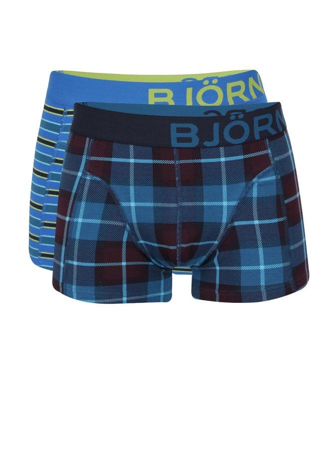 Sada dvou modrých vzorovaných boxerek Björn Borg