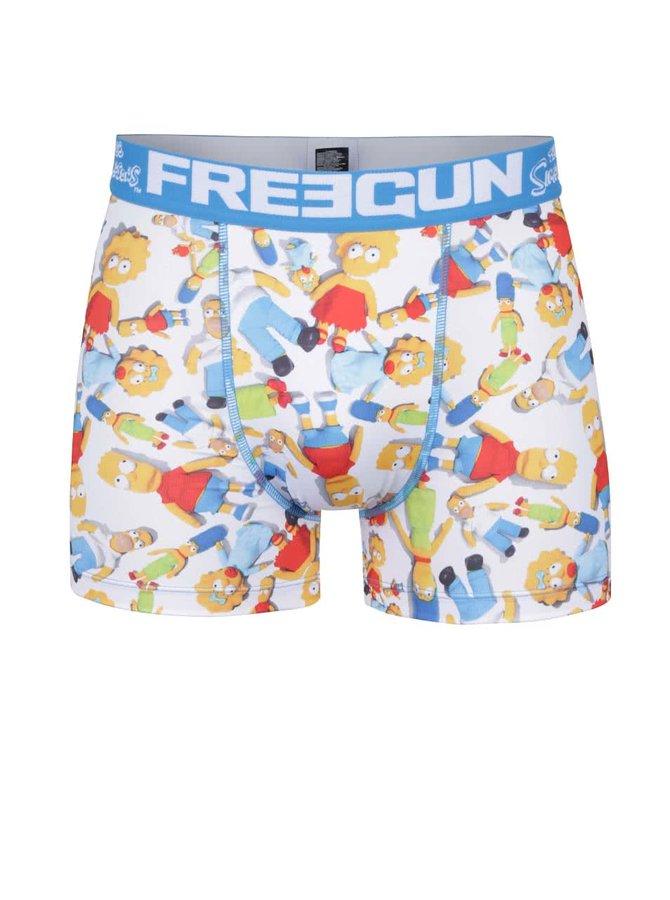 Modro-bílé boxerky s potiskem Simpsons Freegun