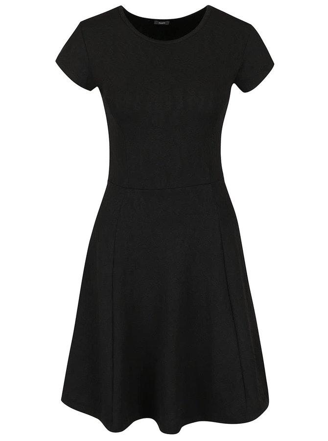 Černé šaty s jemným vzorem ZOOT
