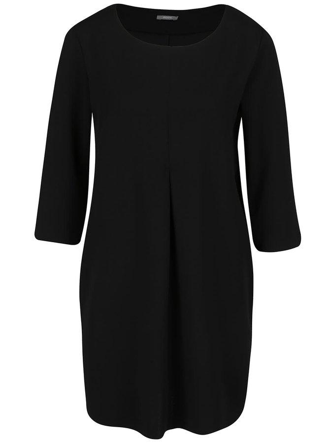 Čierne voľnejšie šaty s 3/4 rukávmi ZOOT