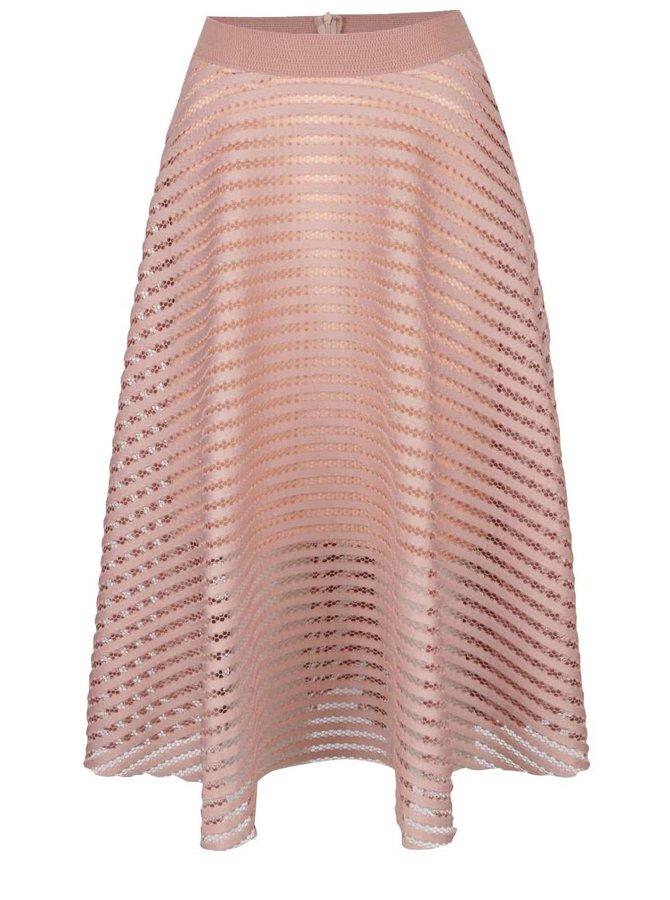 Starorůžová perforovaná sukně  AX Paris