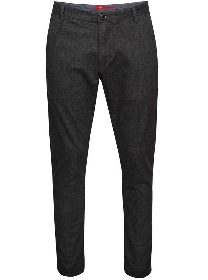 Pantaloni slim fit gri s.Oliver cu model discret
