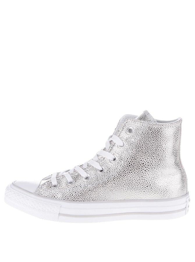 Dámské kotníkové tenisky ve stříbrné barvě Converse Chuck Taylor All Star Chelsea Boot