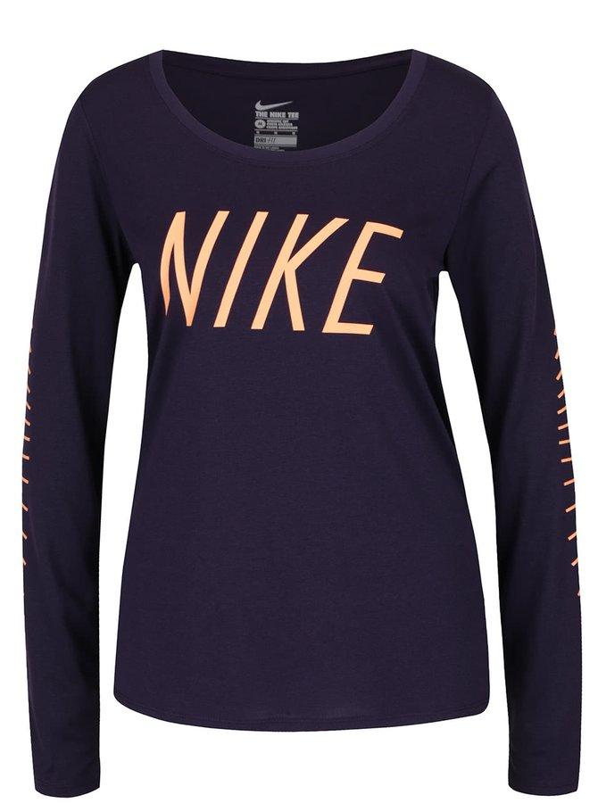 Bluză sport violet Nike Dry Training cu print cu logo