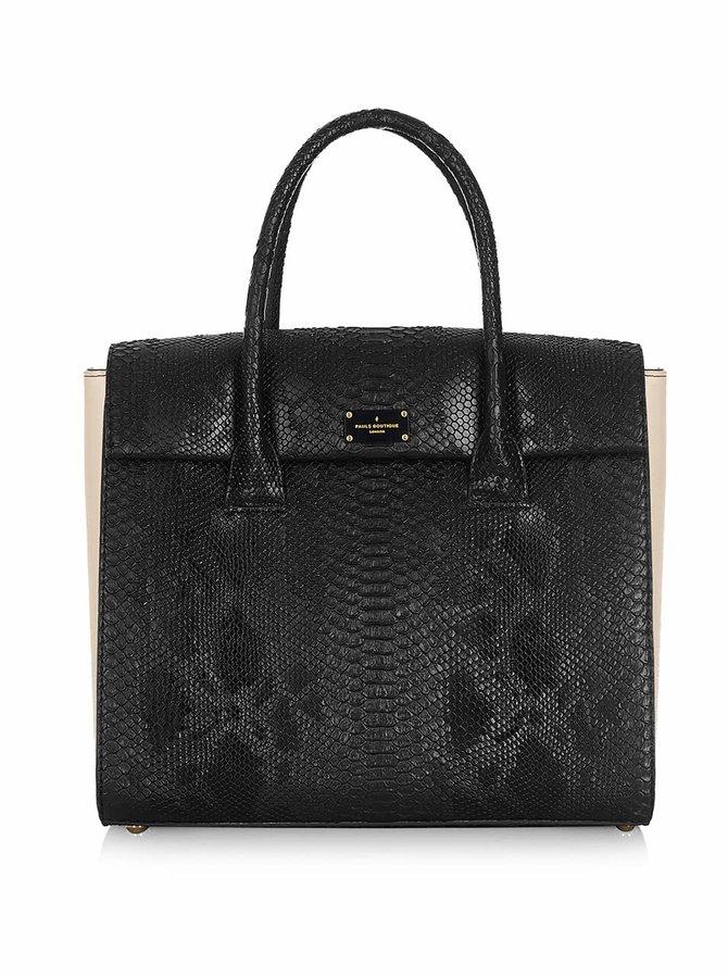 Čierna kabelka so vzorom hadej kože Paul's Boutique Adele
