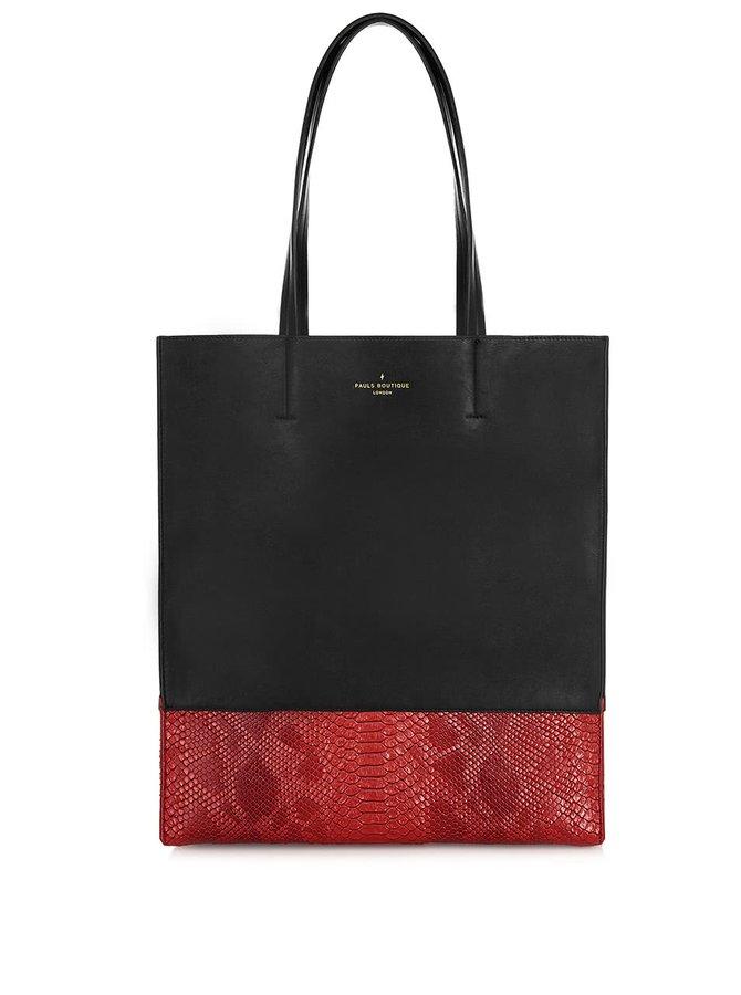 Geantă shopper negru cu roșu Paul's Boutique Elana