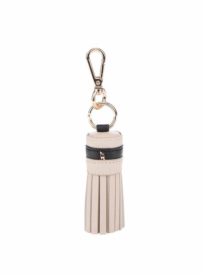 Béžová kľúčenka so strapcami Paul's Boutique Stud