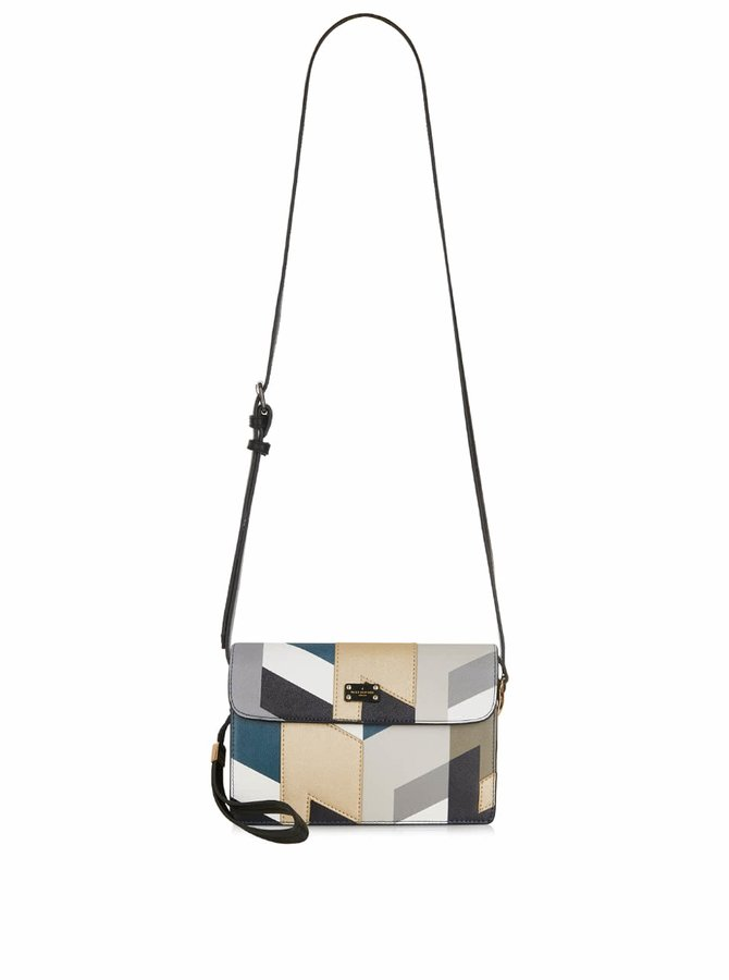 Geantă crossbody multicoloră cu model geometric Paul's Boutique Veronica