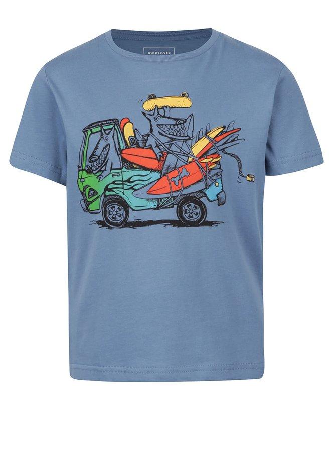 Modré klučičí tričko s potiskem Quiksilver