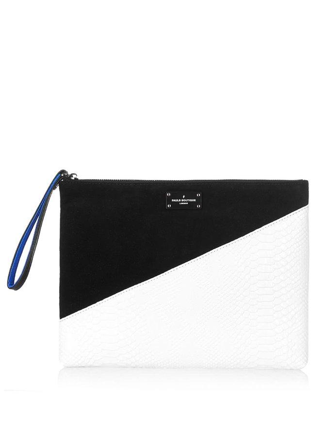Čierno-biela listová kabelka so vzorom Paul's Boutique Stephanie