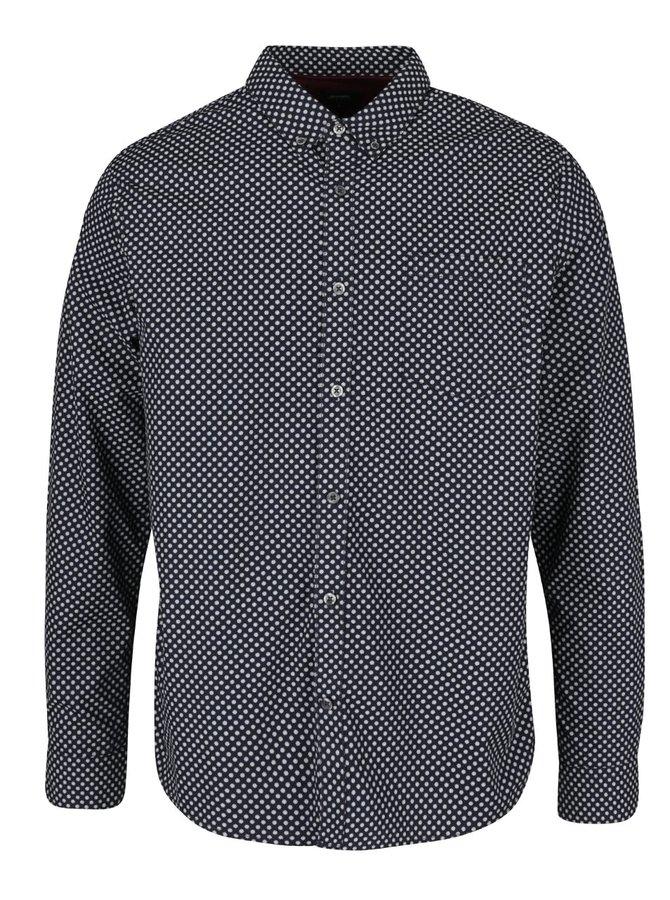 Tmavě modrá košile s drobným vzorem Burton Menswear London