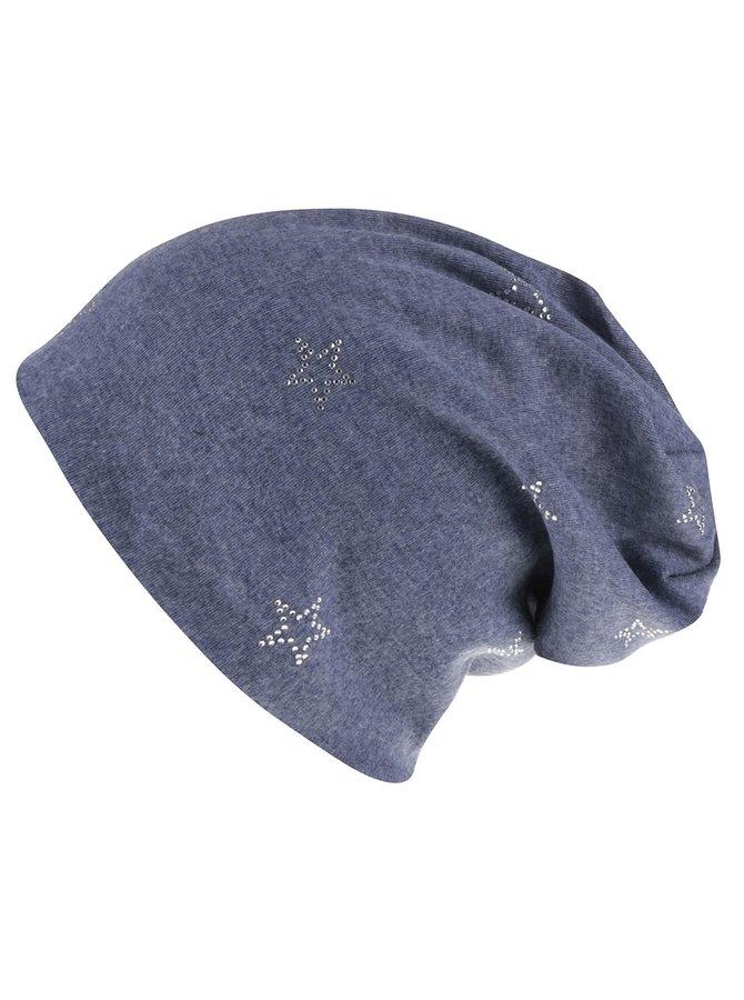 Tmavě modrá čepice s hvězdičkami Haily´s Mila
