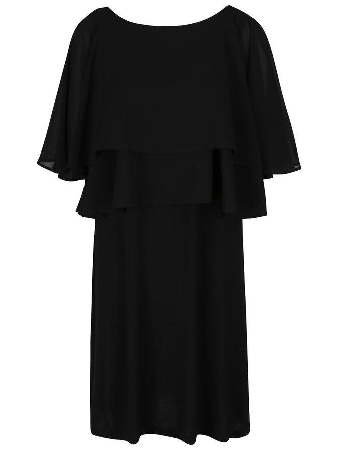 Černé šaty s volány VILA Shelly