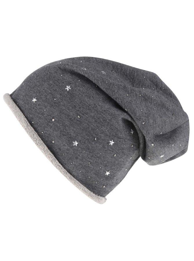 Tmavě šedá čepice s aplikací Haily´s Clara