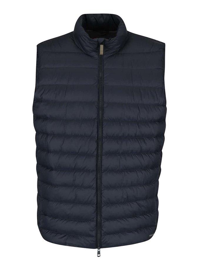 Tmavě modrá pánská prošívaná vesta Geox Down