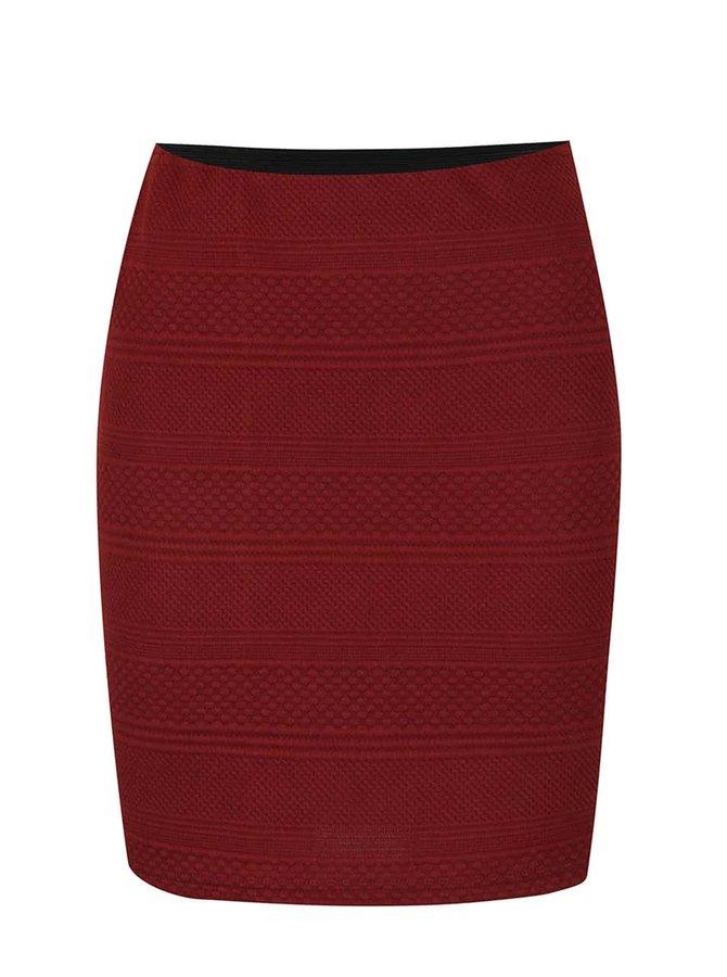 Cihlová sukně s prošívaným vzorem Vero Moda Kaysa