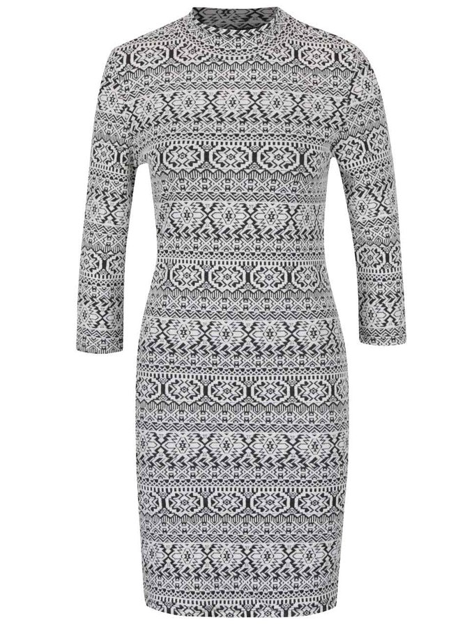 Krémové vzorované šaty se stojáčkem Haily´s Patricia