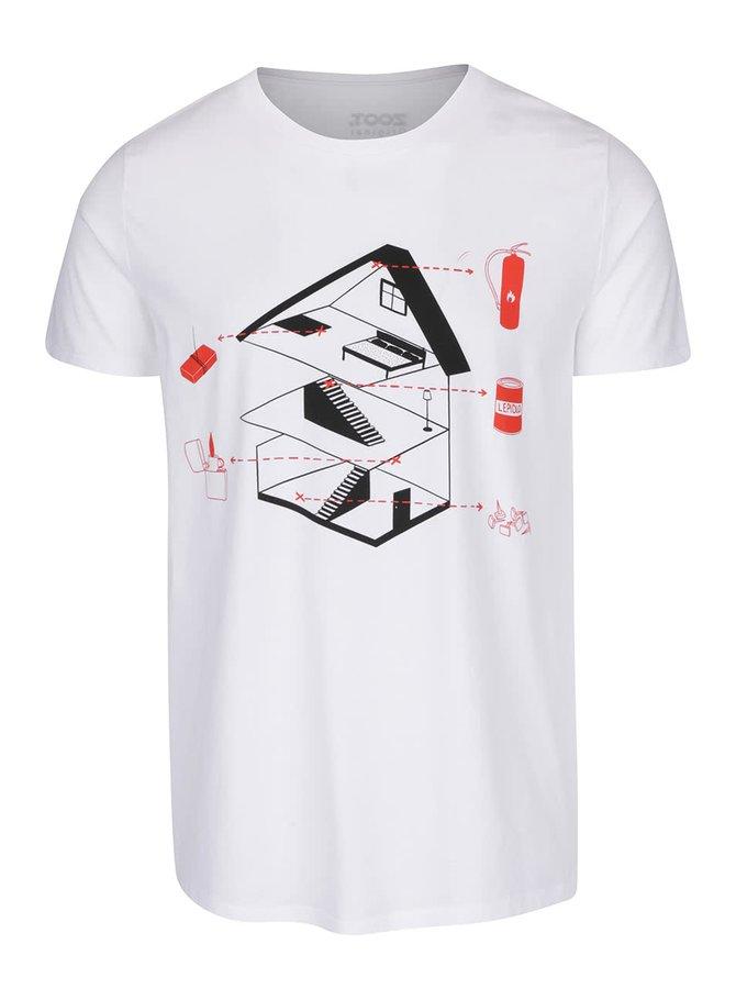 Bílé pánské triko ZOOT Originál Sám doma plánek