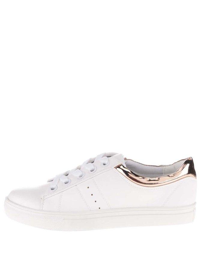 Pantofi sport albi cu detalii roz Dorothy Perkins