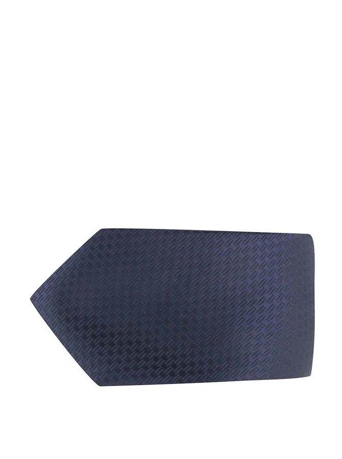 Tmavomodrá kravata s jemným vzorom Jack & Jones Premium Toronto
