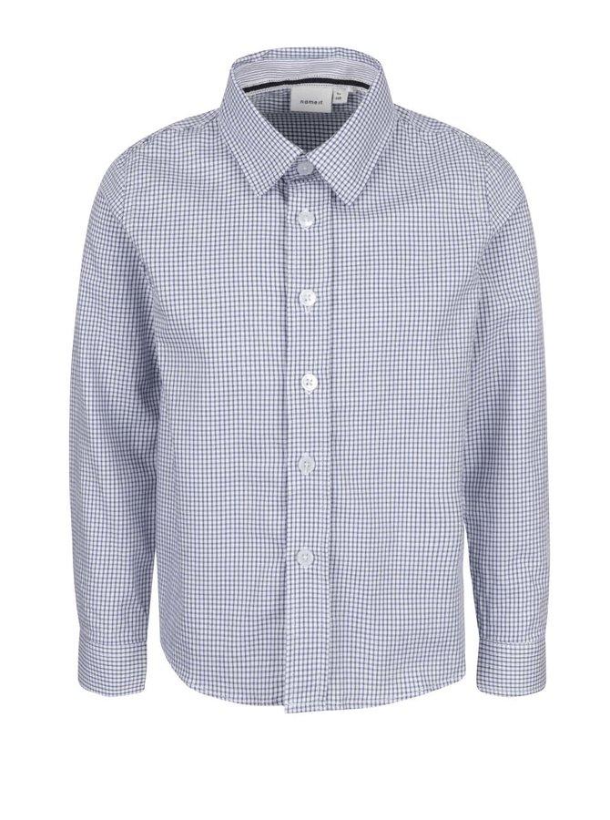 Modro-biela kockovaná chlapčenská košeľa name it Plusk