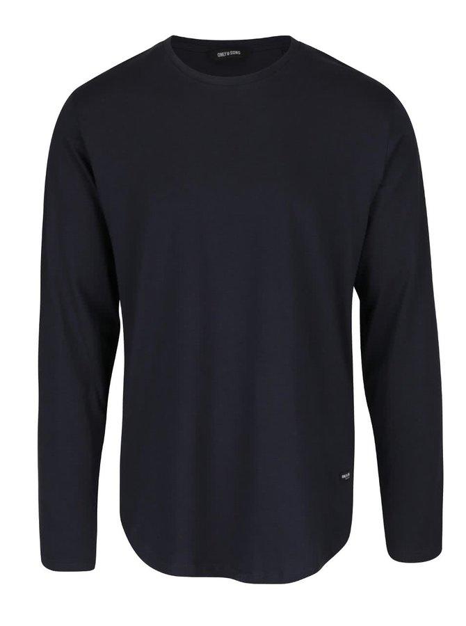 Tmavě modré triko s dlouhým rukávem ONLY & SONS Matt
