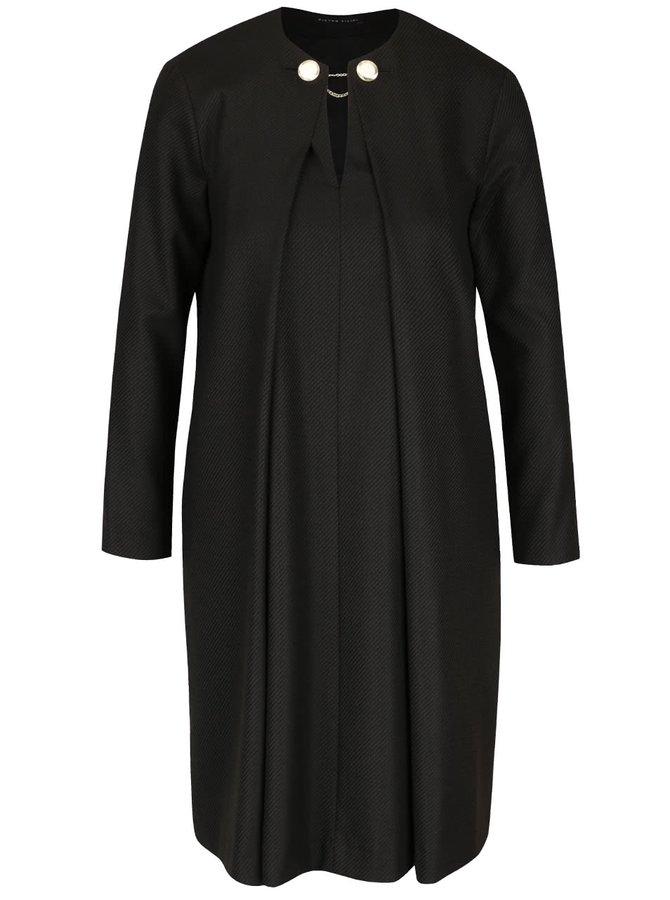 Rochie negru cu maro Pietro Filipi cu detalii metalice