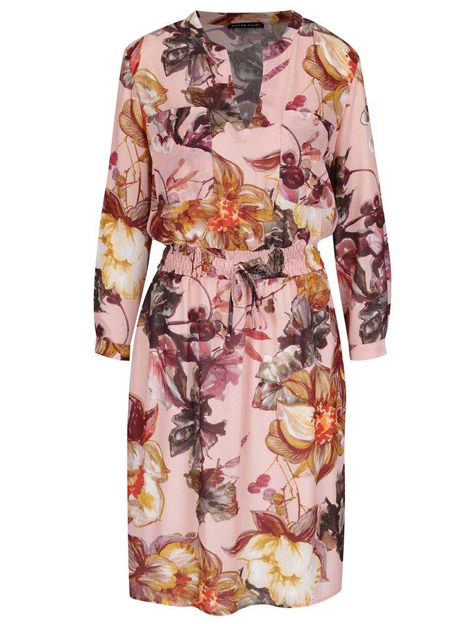 Ružové šaty s kvetovaným vzorom Pietro Filipi